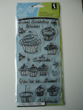 INKADINKADO CLEAR STAMPS - BIRTHDAY CUPCAKE BNIP *LOOK*