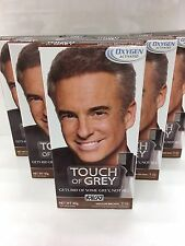 6 x JUST FOR MEN TOUCH OF GREY T35 Marrone Medio Grigio 40g multi-buy