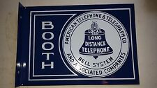 vintage bell telephone porcelin sign