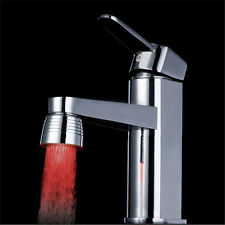 New Temperature Sensor Kitchen Water Tap Faucet RGB Glow Shower LED Light Cool
