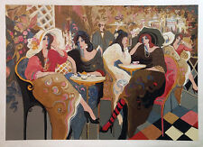 """ISAAC MAIMON """"LE BISTRO CAFE"""" 1994   SIGNED SERIGRAPH   LARGE 38 X 54""""   GALLART"""