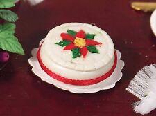 Dolls House Miniature 1/12th Scale Emporium Round Christmas Cake