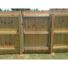 Steel Gate Frame Kit Garden Fence Adjustable Wood Composite Heavy Duty Fencing