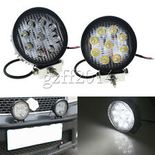 2PCS 27W Round LED Work Light Lamp match SUV 4x4 Truck Tractor Boat High Power