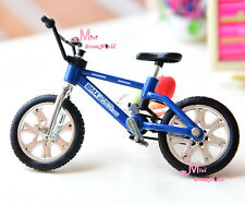 Blue Toy Bicycle Bike 1/12 Dollhouse Miniature Quality