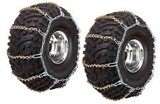 REAR ATV UTV Tire Chains Pair Polaris Ranger XP EFI 2x4 4x4 6x6 2009 2010