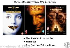HANNIBAL LECTER TRILOGY DVD COLLECTION ALL 3 MOVIE FILMS Brand New Sealed UK