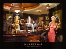 Java Dreams Art Poster Print 32x24 Classic Bar theme holywood full color Monroe