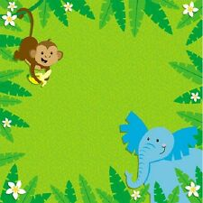 Scrapbook Paper 3D 12 x 12 inches JUNGLE ANIMALS - 2 Sheets   BBBE