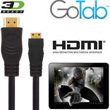 GoTab 7, 8, 10, GoNote 2 Android Tablet PC HDMI Mini to HDMI TV 5m Gold Cable