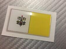 Adesivo Bandiera 3D Resinata CITTA' DEL VATICANO 45 x 25 mm.