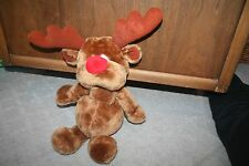 "Vintage 19"" Stuffed Plush Russ Reindeer ""Radar"" Rudolph Holiday"