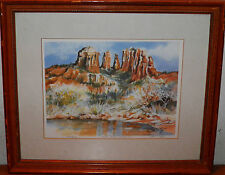 "RED ROCK CROSSING SEDONA ARIZONA LTD. ED. SIGNED TWICE LITHOGRAPH 14""x16"" Framed"
