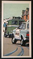 Ford Escort    Police Panda Car   1970's  Vintage Action Card  ## VGC