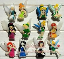 12Pcs 3CM Cute Tinkerbell Shoe Bracelet Charms Party Favours Cake Toppers