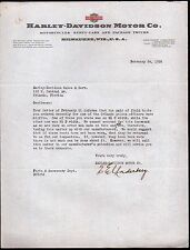 1939 Harley Davidson Motor Motorcycle Orlando Police Boots  Content Letter Head
