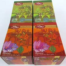 Safran Tee + Grüner Tee je 2 Verpackung a' 25 Beuteln v. safrancenter sahar ovp