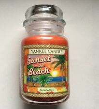 Yankee Candle ALOHA COLLECTION SUNSET AT THE BEACH 22 oz JAR RETIRED HTF SCENT
