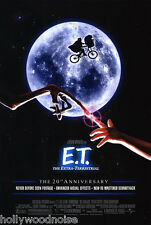 E.T. EXTRA TERRESTRIAL MOVIE POSTER DS 20th Ann. ORIGINAL FINAL  27x40