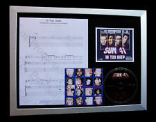 SUM 41 In Too Deep LTD GALLERY QUALITY CD FRAMED DISPLAY+EXPRESS GLOBAL SHIPPING
