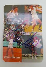 Mats Wilander 1986 Portuguese TennisCard Autographed MINT Very Rare Collectable