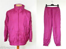 vintage ADIDAS full whole SHELL SUIT tracksuit size womens Small 80s neon pink