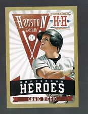 CRAIG BIGGIO #HH9 ASTROS Gold Homegrown Heroes 2013 panini Hometown Heroes