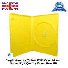 100 singolo DVD standard di colore giallo 14mm di alta qualità nuovo caso di sostituzione AMARAY