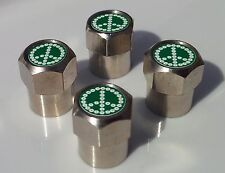 CND DAISY CHAIN PEACE SYMBOL  ALLOY TYRE VALVE CAPS FOR TIRE VALVES