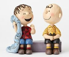 Peanuts Charlie Brown & Linus on Sidewalk by Jim Shore NEW  27412
