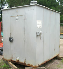 VINTAGE RAILROAD CROSSING GATE SIGNAL SHED BUILDING 6' x 8'
