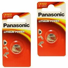 Lot de 2 Piles bouton Panasonic CR1632 3V au lithium Button Cell Knopfzelle