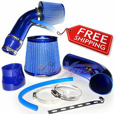 """2.5-3.0"""" UNIVERSAL COLD AIR Intake INDUCTION HOSE KIT System + Cone Filter BLUE"""