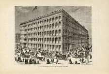 1881= OLD NEW YORK = A.T. STEWART RETAIL STORE = Old Rare Engraving