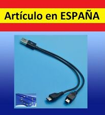 Cable Y MICRO & min USB cargador para mp3 audio SHUFFLE mp4 PC datos L