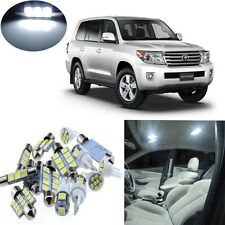 14pcs White Interior LED Light Package Kit for Toyota Land Cruiser 2008-2011