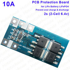 2s 6.4V LiFePO4 10A LiFe Batterie Pack BMS PCM Protection Circuit Module Board
