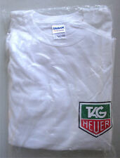 T-shirt Tag Heuer 100% cotton size XL white stop watch co.