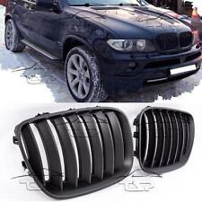 FRONT GRILLS BLACK MATT FOR BMW X5 E53 04-06 SPOILER BODY KIT NEW