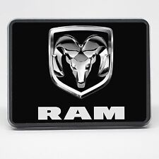 "Dodge Ram Truck Black 2 inch (2"") Trailer Hitch Tow Cover Plug"