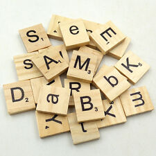 100 Pcs Wooden Alphabet Scrabble English Letters for DIY Crafts Kids Exotic