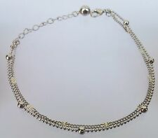 Girl Stylish Dual Chain Silver Anklet Payal for women - 1 Pair