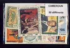 Cameroun 50 timbres différents oblitérés