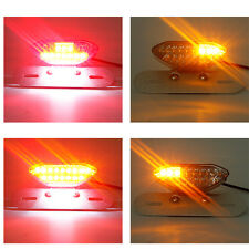 Universal Motorcycle 20 LEDs Rear Tail Turn Signal Light Brake License Plate E11