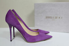 New sz 11 / 41 Jimmy Choo Abel Purple Suede Classic Pointed toe Pump Shoes