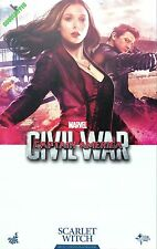 READY HOT TOYS CAPTAIN AMERICA 3 CIVIL WAR SCARLET WITCH ELIZABETH OLSEN ANT-MAN