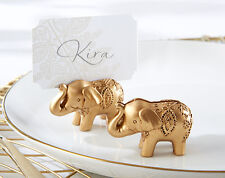Lucky Elephant Gold Place Card Holder Wedding Favors 24pcs Free Shipping