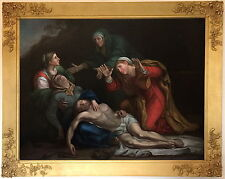 Lamentation Italian Old Master Oil Painting after Annibale Carracci (1560-1609)