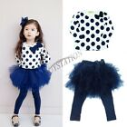 NEW 2Pcs Outfit Baby Toddler Girl Clothes Set Dress Top+Leggings Party Skirt 2-6