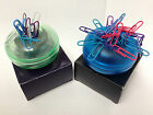 Magnetic Paperweight / Paperclip Holder including 30 Colourful Paperclips